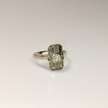 Damen-Ring - Gold, Diamant - 1920